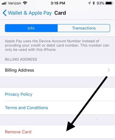 How to remove your credit card from itunes