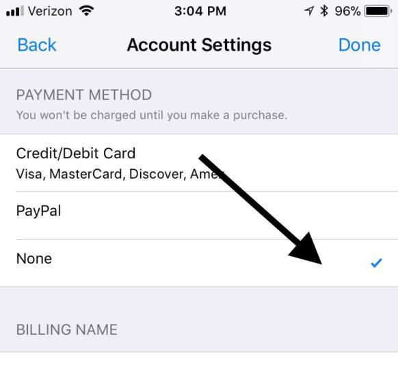 remove_credit_card_itunes_iphone_4