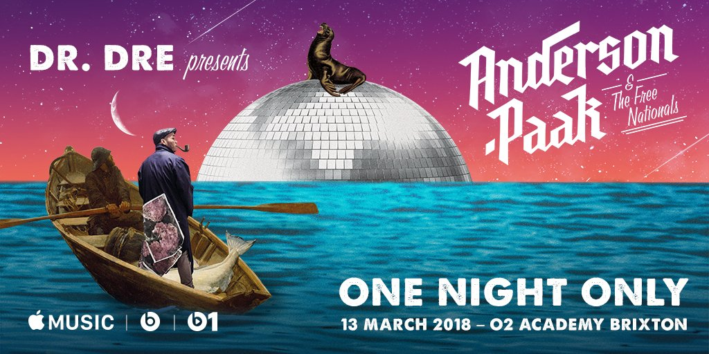 Apple Music to Sponsor Free Anderson .Paak 'One Night Only' London Performance