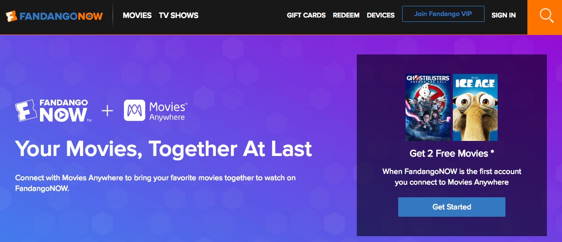 FandangoNOW Movies Now on Movies Anywhere Apple TV and iOS Apps