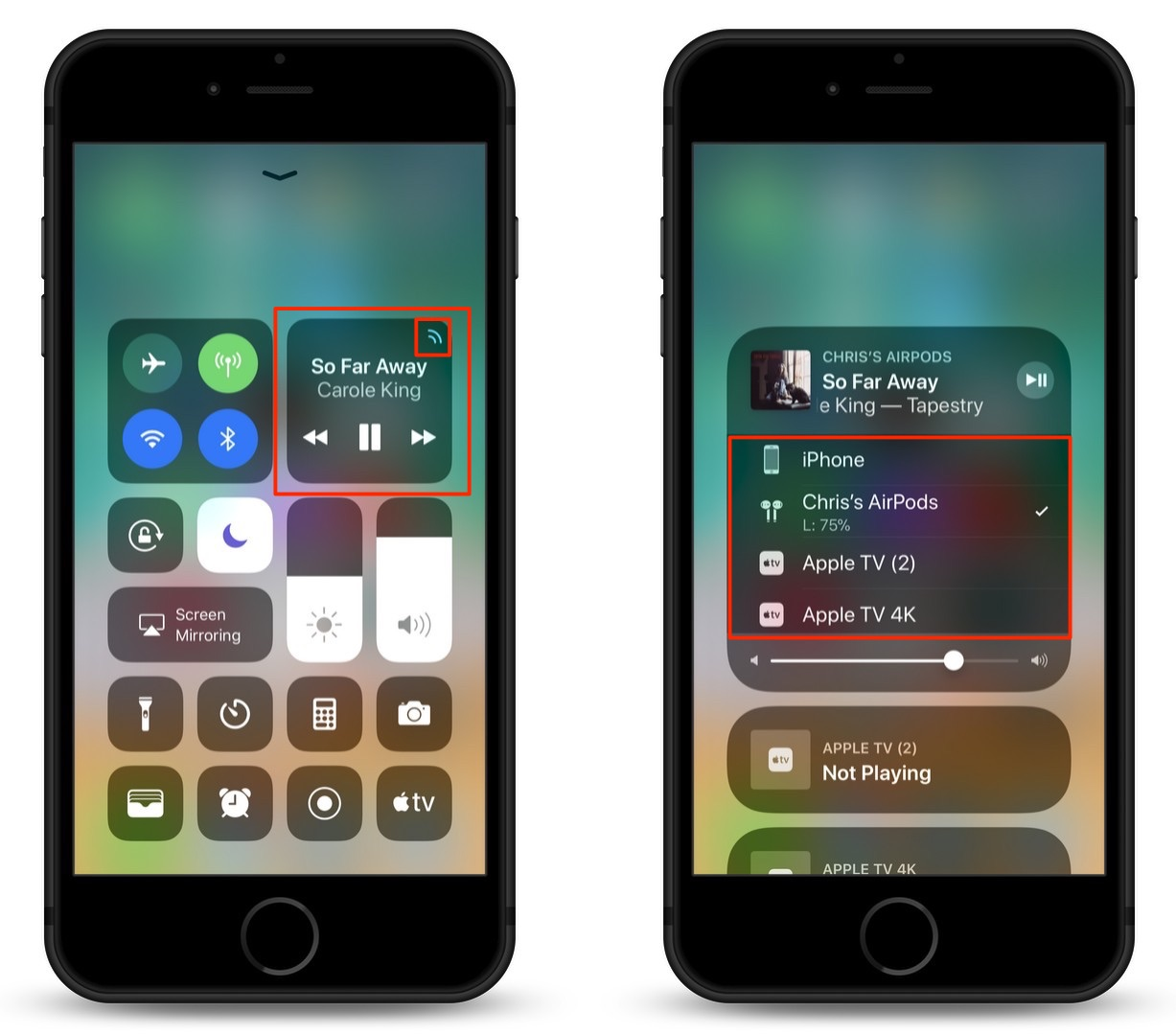 How To Switch Bluetooth Devices in the iOS 11 Control Center