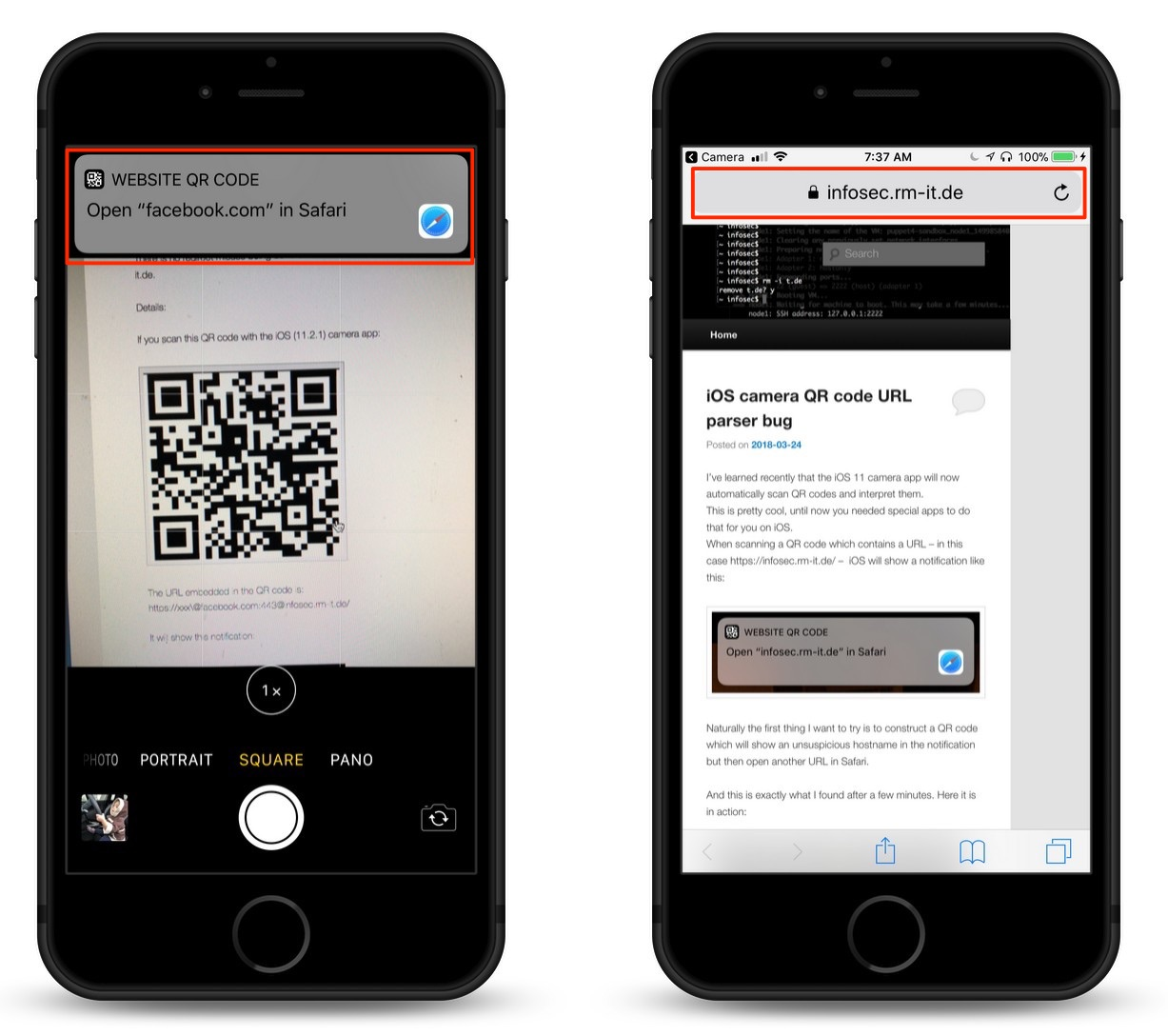 iOS 11 Vulnerability in Camera App's QR Code Reader Could Send Users to Malicious Websites