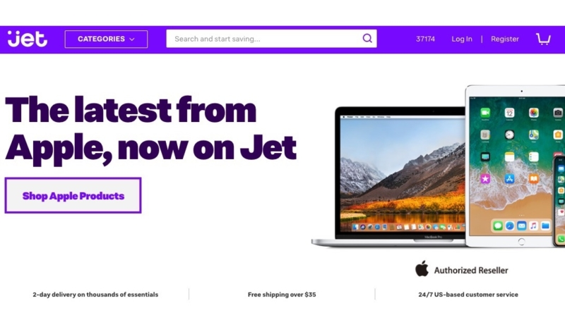 Walmart's Jet.com Now an Official Apple Authorized Reseller