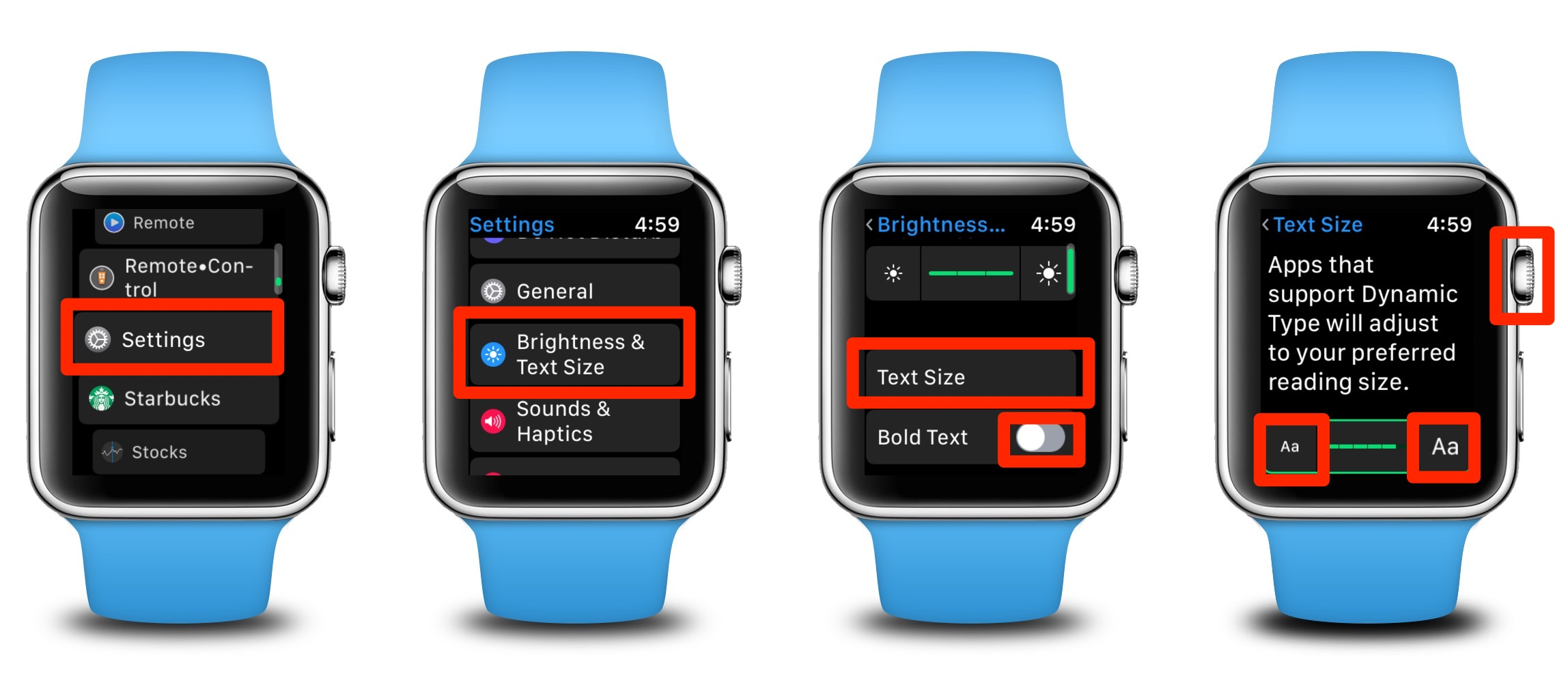 How to Adjust Text Size and Enable Bold Text on Your Apple Watch