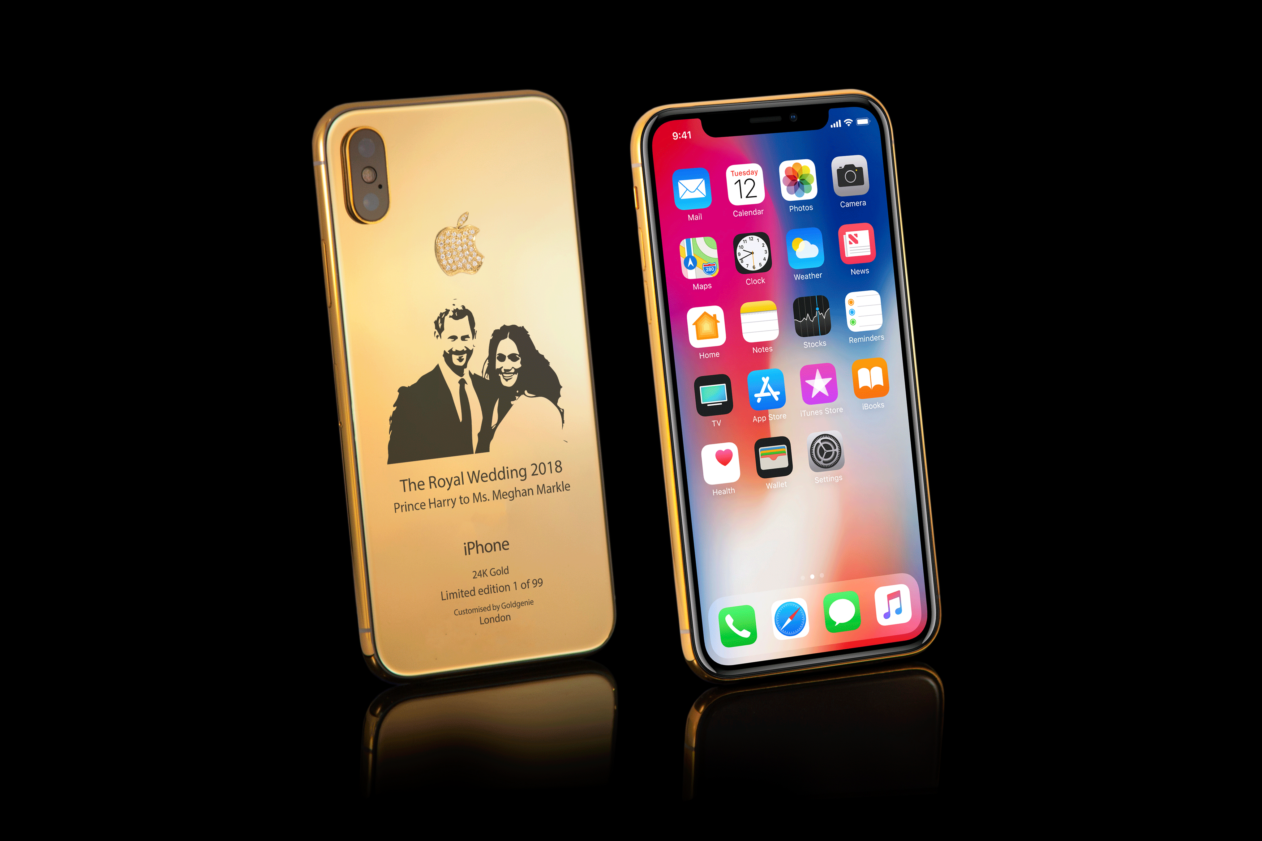 24k Royal Wedding Celebration Cases for Your iPhone X