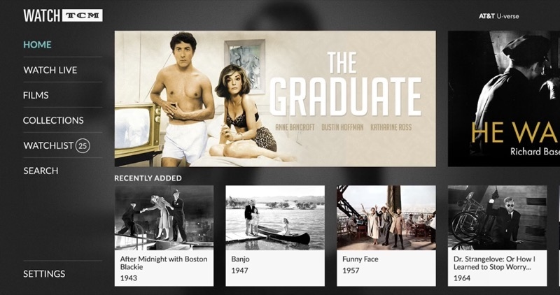 Turner Classic Movies Launches 'Watch TCM' on Apple TV