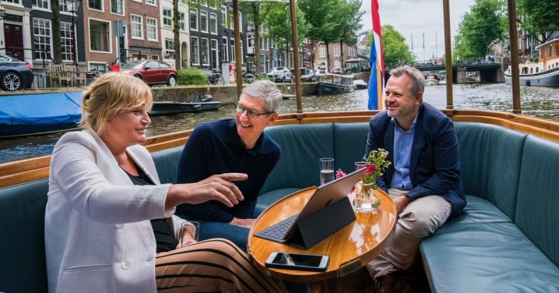 Apple CEO Tim Cook Has a Meet-Up With iPhone Photographer Annet de Graaf in Amsterdam