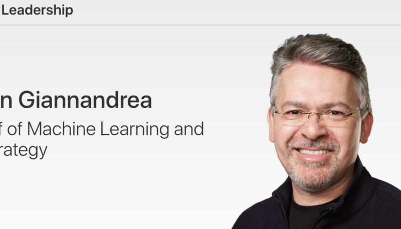 Apple Adds  New AI Chief John Giannandrea to Leadership Page