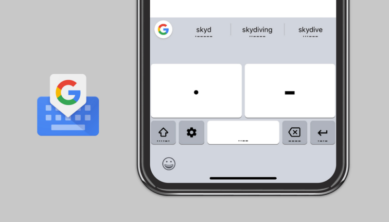 Google Adds Morse Code Typing to Its Gboard App on iOS