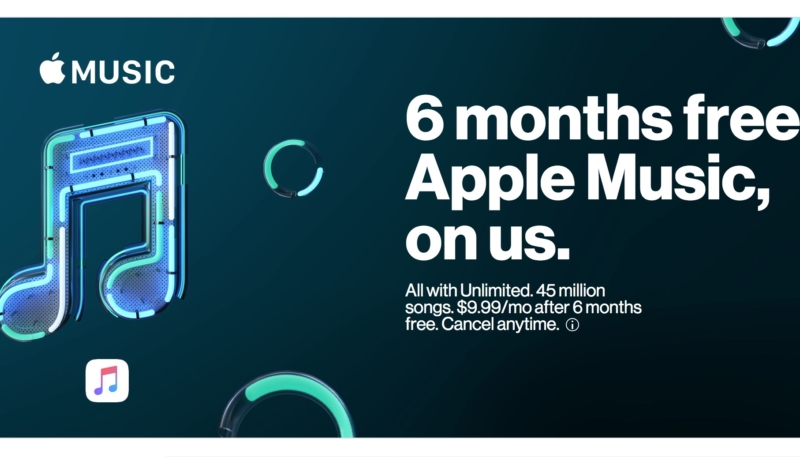 Verizon Gives Unlimited Plan Subscribers Free Six Month Apple Music Subscription
