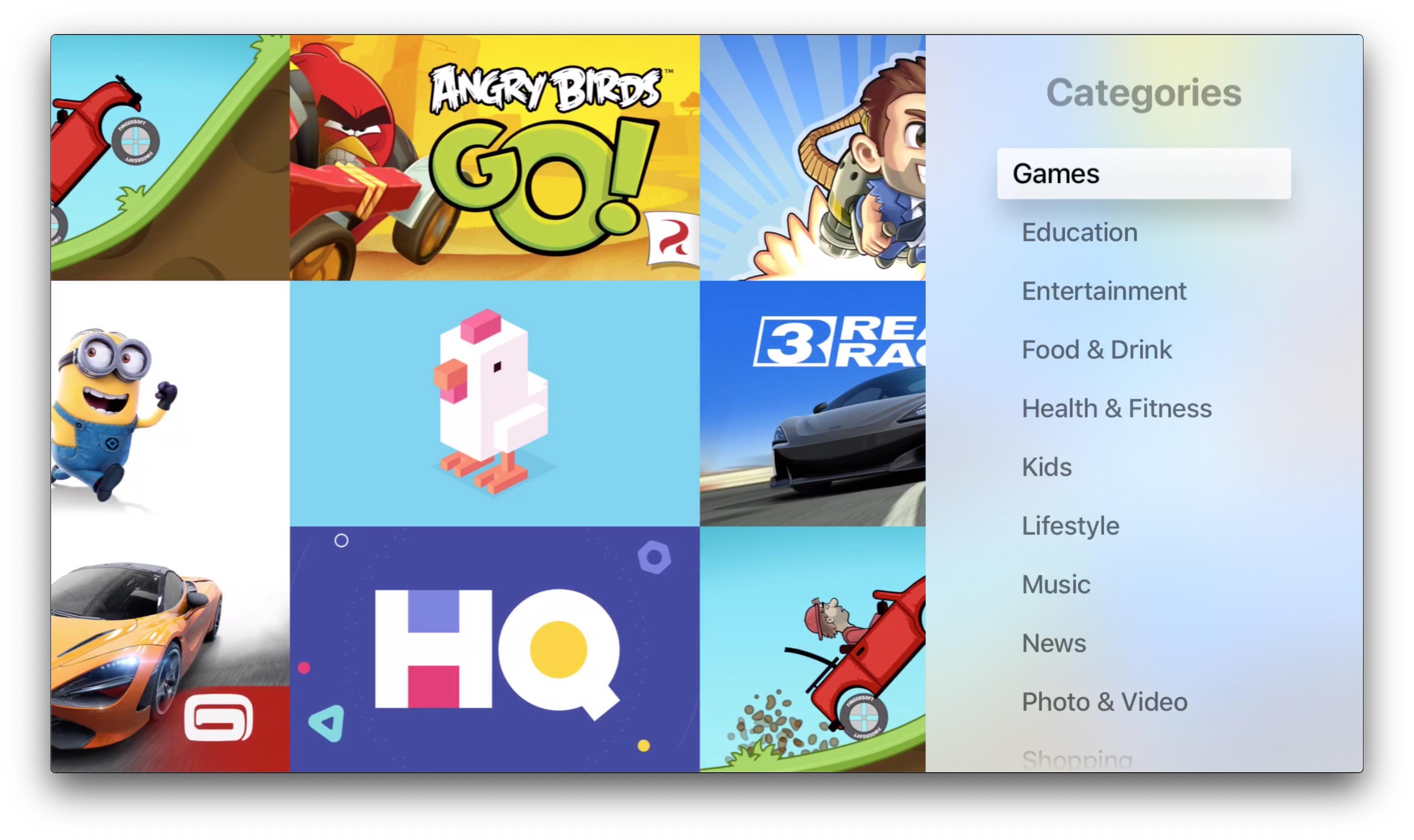 best free apple tv games 2018