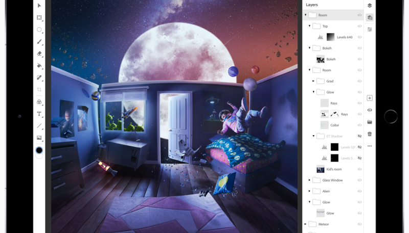 Adobe Shows Off Photoshop CC on iPad – Hits Devices in 2019