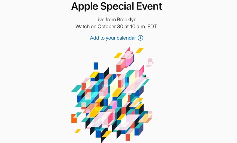 Apple Sends Media Invites to Their October 30 'There's More in the Making' Event in Brooklyn
