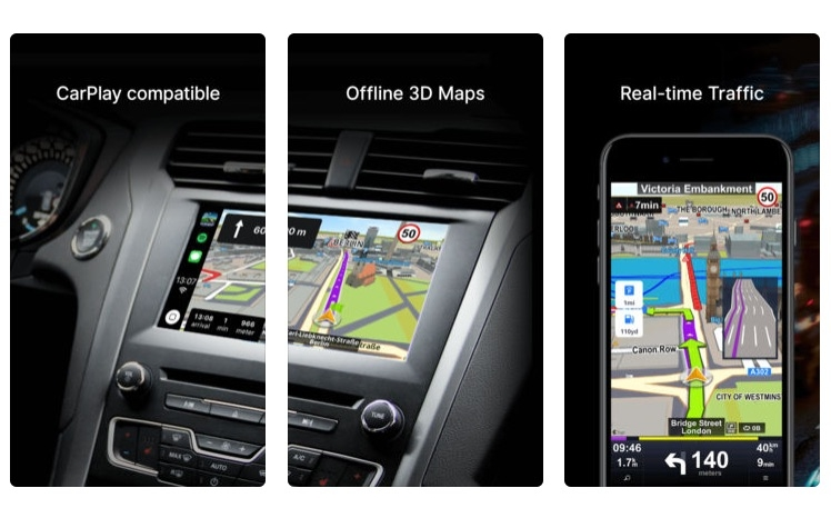 Sygic's Car Navigation: GPS & Maps iOS App Now CarPlay Compatible