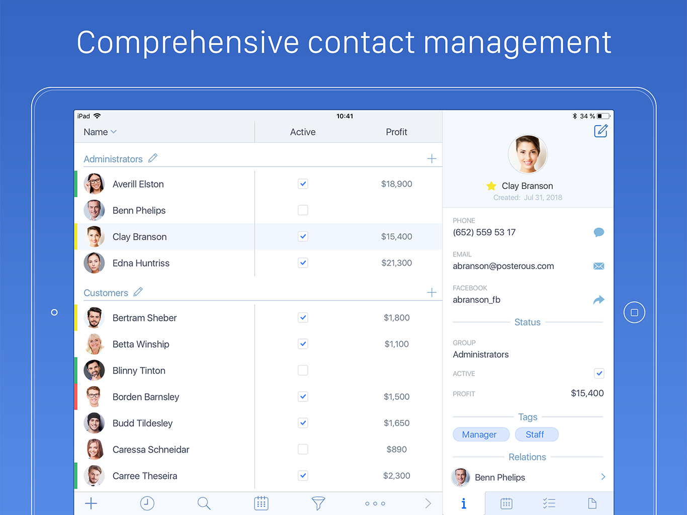 Top Contacts For Ios Brings Powerful Crm Features To The Iphone And Ipad
