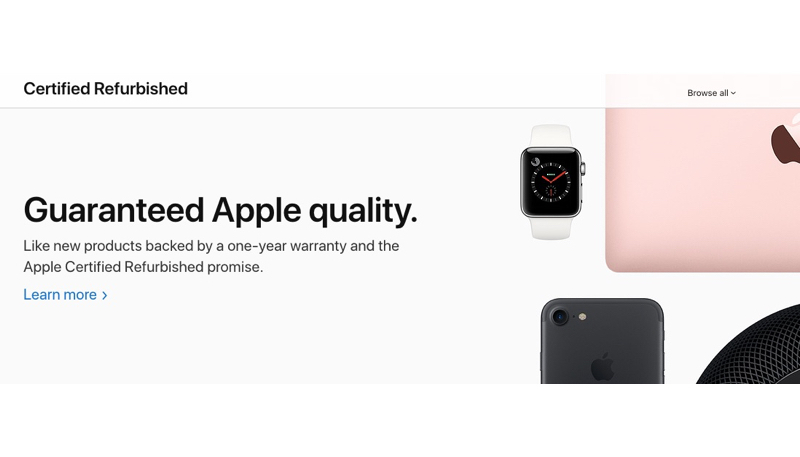 Apple Launches Revamped Certified Refurbished Online Store