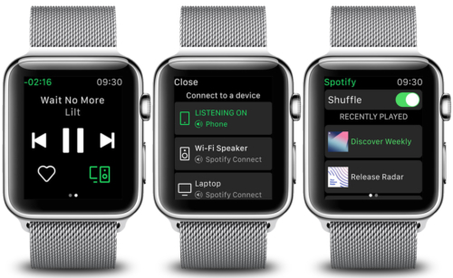 Spotify on the Apple Watch