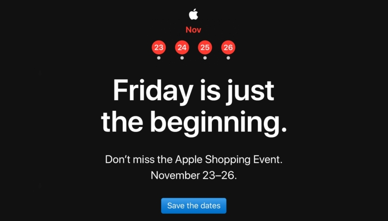 Apple Store to Hold Four Day Shopping Event – Kicks Off on Friday