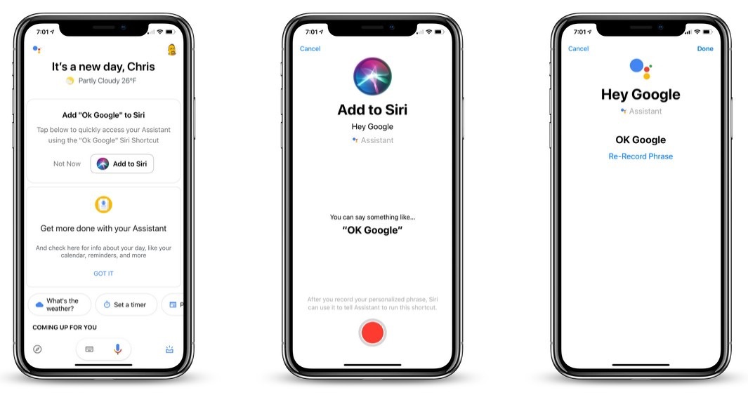 Google Assistant iOS App Now Offers Siri Shortcuts Support