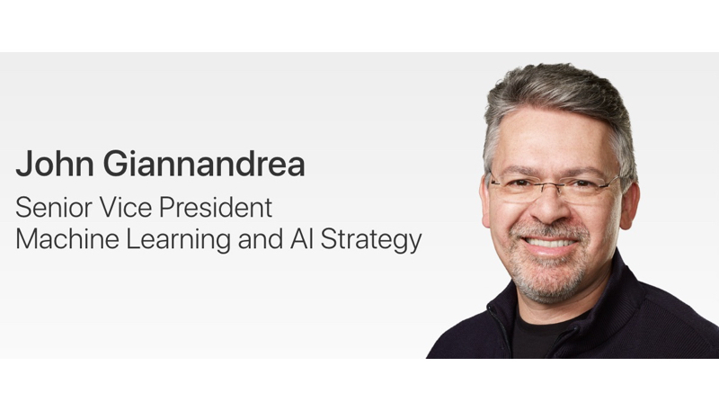 Apple Promotes AI Chief John Giannandrea to Senior Vice President