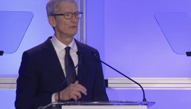 Apple CEO Tim Cook: Hate Groups 'Have No Place on Our Platform'