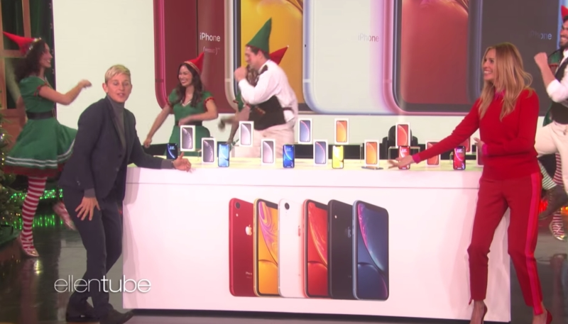 Apple Gives a Free iPhone XR to Ellen Show's Entire Studio Audience