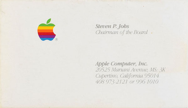 Steve Jobs Apple Business Card Goes for Over $6,200 at Auction