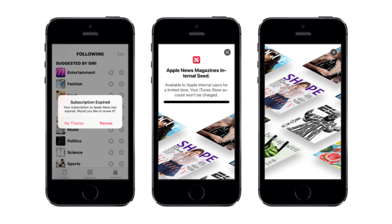 Apple News Magazines Subscription Service Preview Spotted in iOS 12.2 Beta