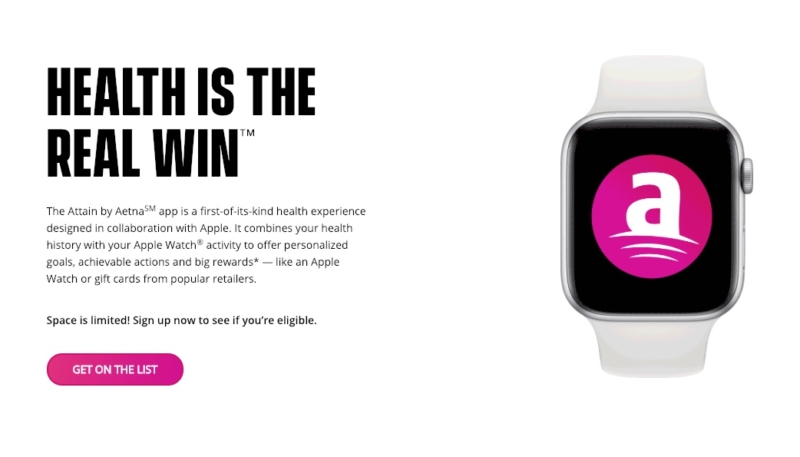 Aetna Launching New 'Attain' Apple Watch Health Coach App in 2019