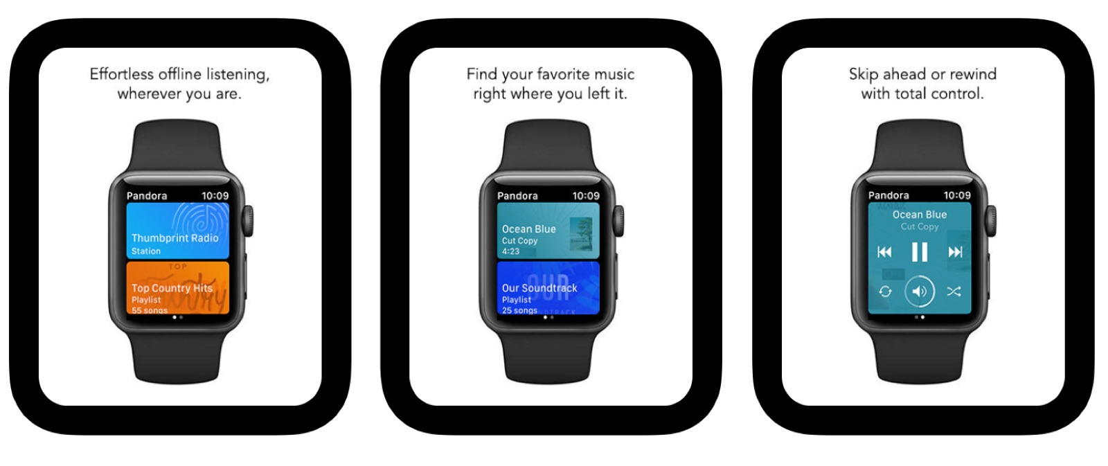 Pandora iOS App Update Brings Offline Playback Feature for Apple Watch