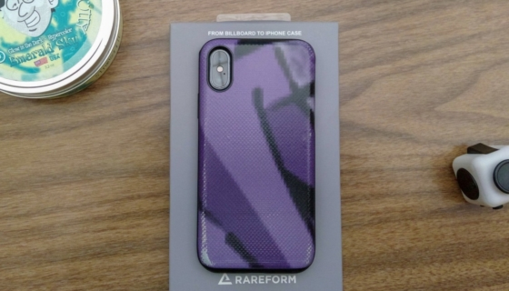 Rareform iphone case on desk