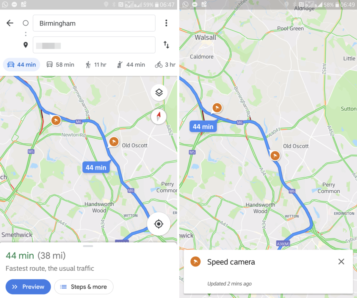 Google Maps for iOS and Android Rolling Out Support for Speed Limits and Speed Traps