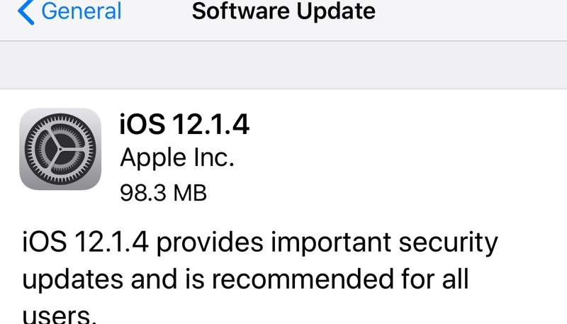 iOS 12.1.4 Update Now Available – Fixes Group FaceTime and Newly Discovered Live Photos Vulnerabilities