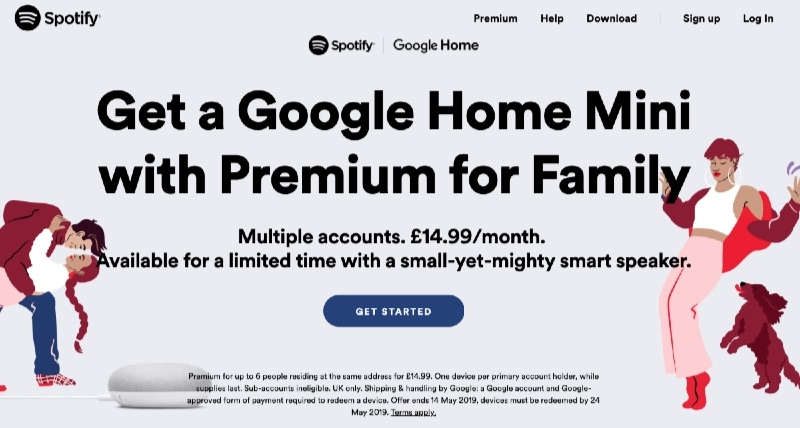 Spotify Offering Free Google Home Mini Speaker With U.K. Family Plan Subscription