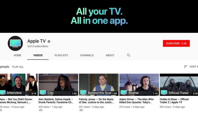 Apple Debuts New 'Apple TV' YouTube Channel – Offers Behind-the-Scenes Videos, Trailers, and More