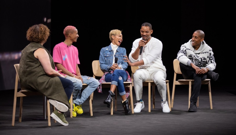 Will, Jaden & Jada Smith Make an Appearance at Apple Park for Environmental Discussion