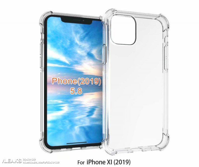 2019 'iPhone XI' Case Renders Mirrors Leaked Square Camera Bump Design