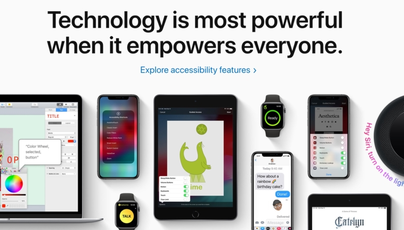 Apple Celebrates Global Accessibility Awareness Day on Front-Page of Website and in iOS App Store