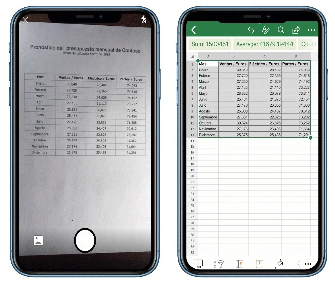 Microsoft's 'Insert Data From Picture' Excel Feature Debuts on iOS