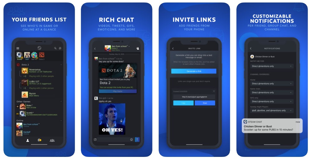 Valve Steam Chat App for iOS and Android Now Available