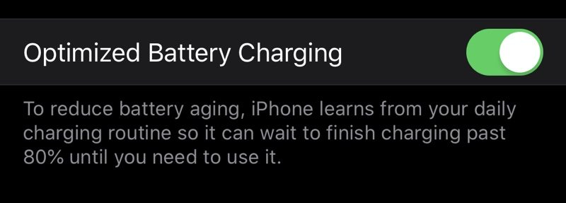 iOS 13 to Include New 'Optimized Battery Charging' Feature