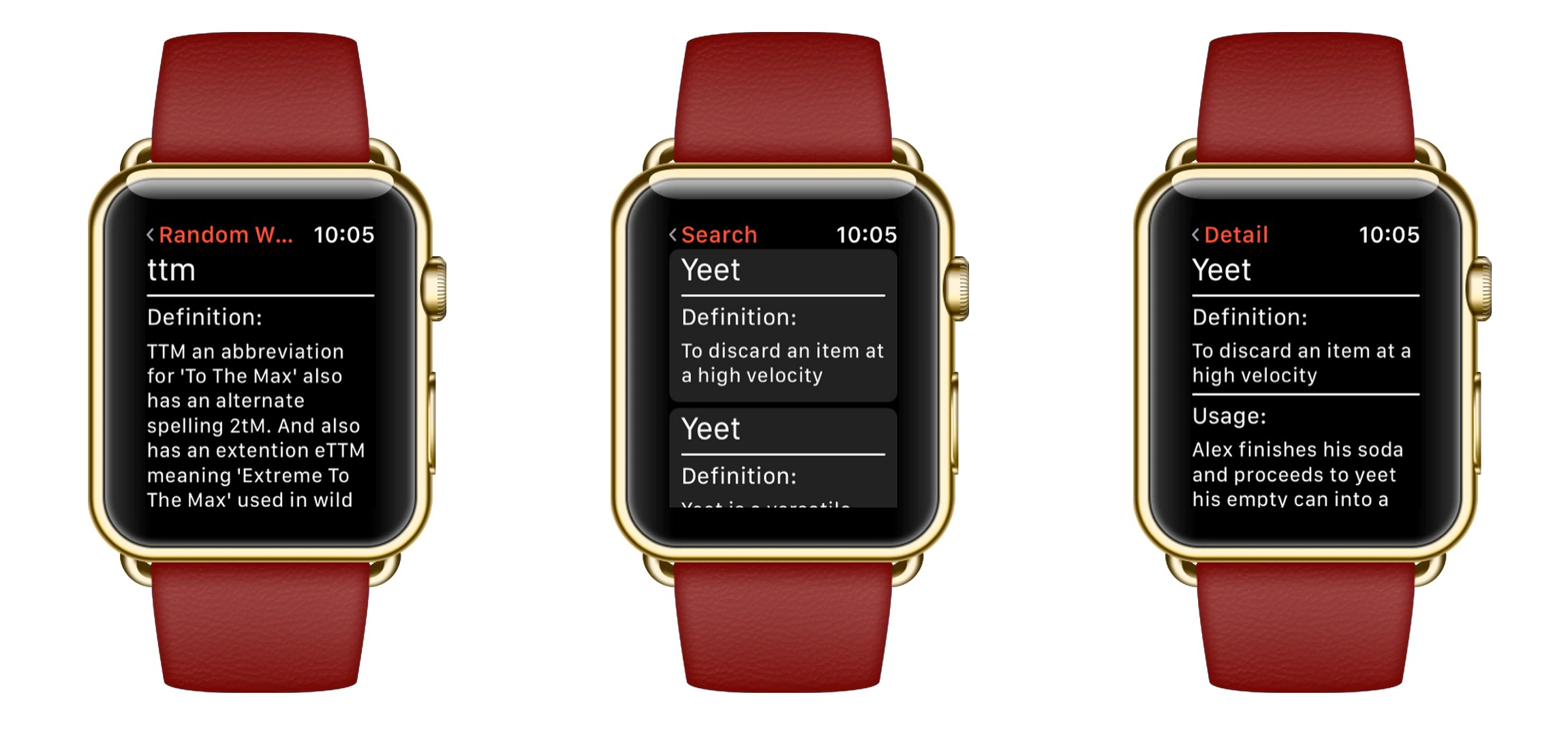 UrbanWatch for Apple Watch Brings the Urban Dictionary to Your Wrist