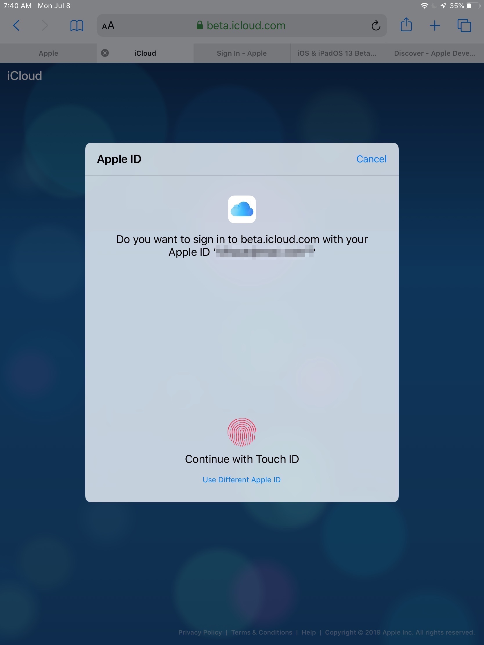 Apple Tests Face ID and Touch ID iCloud Website Sign-in on iOS 13, iPadOS, and macOS Catalina Betas