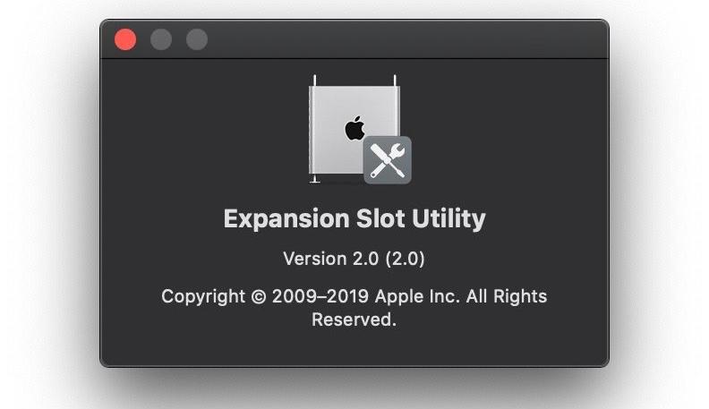 Apple's Expansion Slot Utility Returns for 2019 Mac Pro