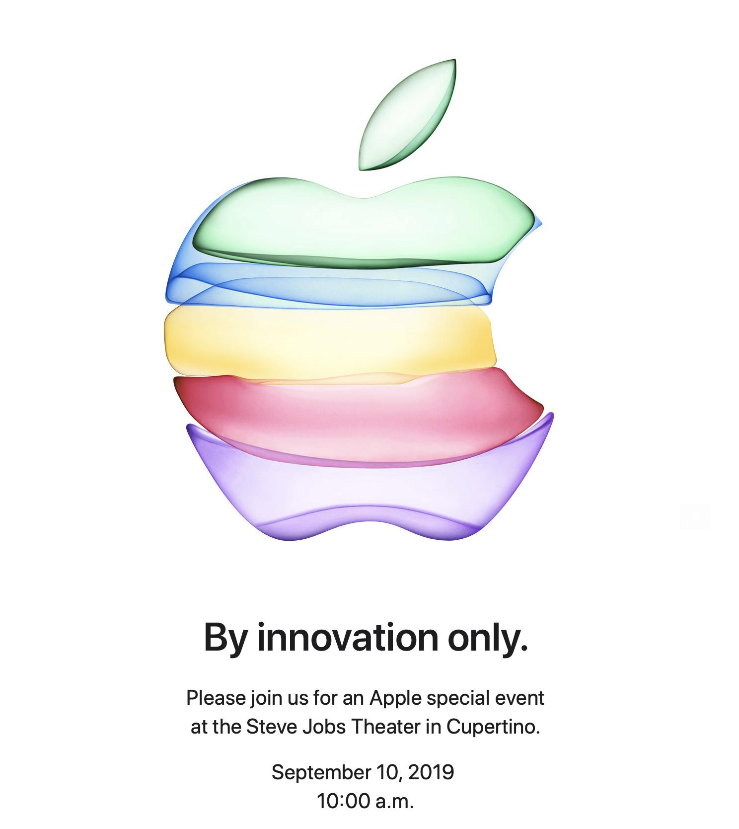 Apple's 'By Innovation Only' Invitations Confirms iPhone Event to be Held Sept. 10