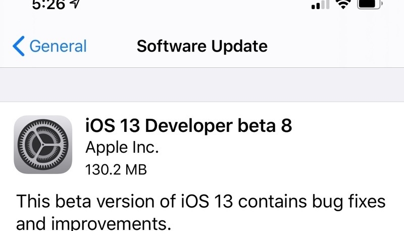 Apple Releases Eighth Developer Betas of iOS 13, iPadOS & watchOS 6