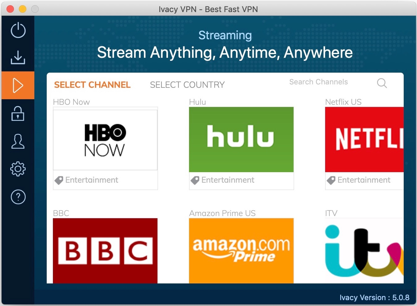 VPN_review_ivacy_macOS_streaming_servers