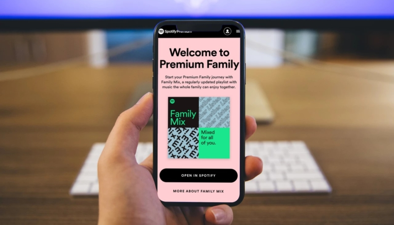 Spotify Premium Family plan streams to 6 users, offers parental controls