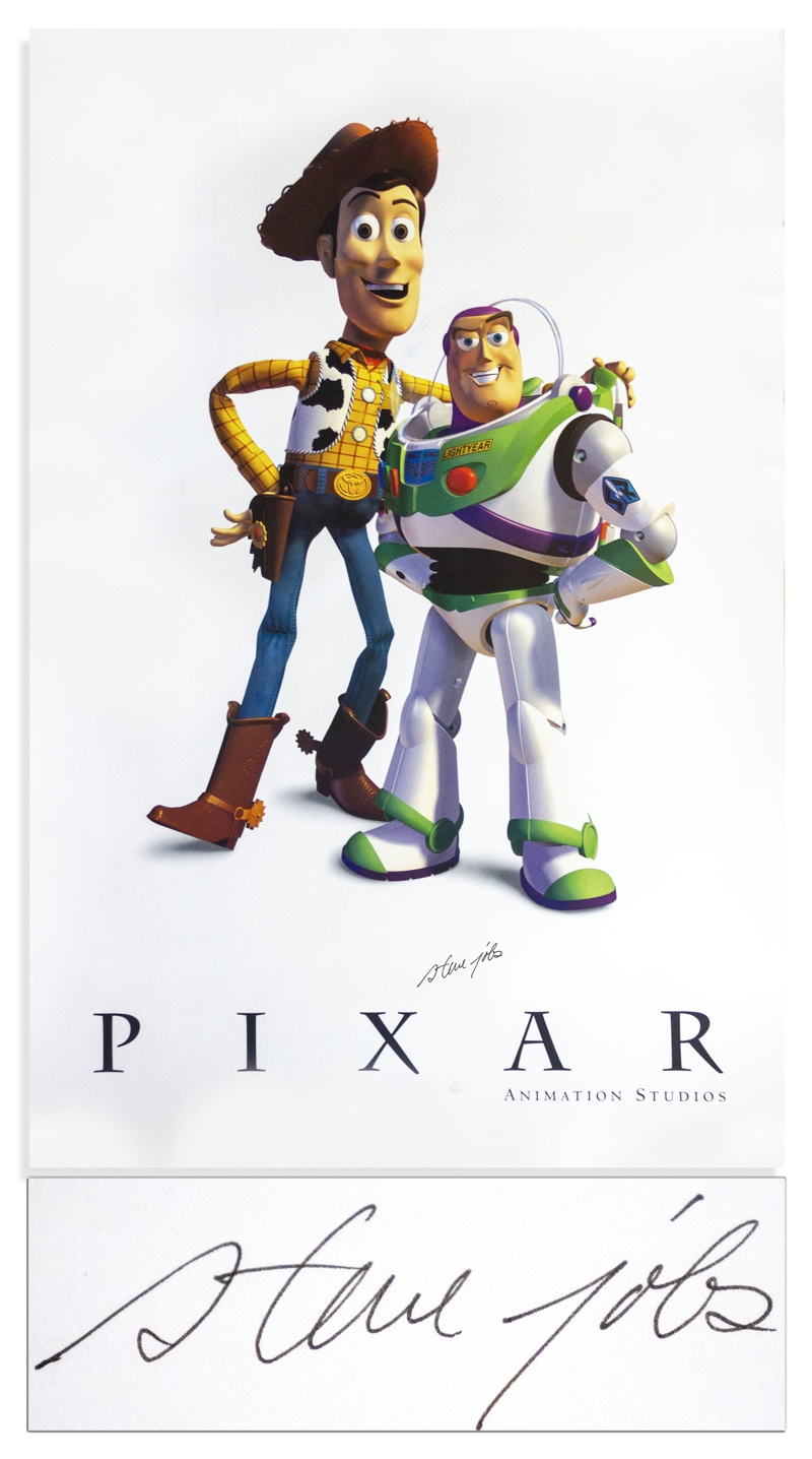 Pixar Animation 'Toy Story' Poster Signed by Steve Jobs up for Auction