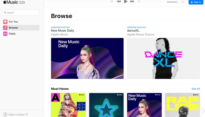 Apple Launches Beta of Apple Music on the Web